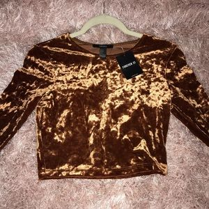 Forever 21 Orange/Brown Suade Long Sleeve 🍂